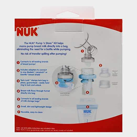 NUK Expressive Double Electric Breast Pump Rear Box